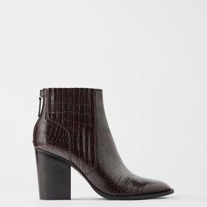 """Zara ankle bootie- 3.4"""" heels"""